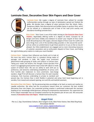 Laminate Door, Decorative Door Skin Papers and Door Cover