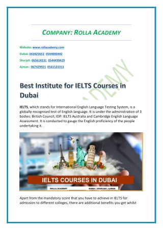 Rolla Explain Benefits IELTS Preparation Sharjah