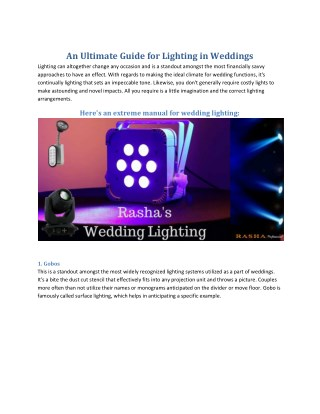Stunning Lights for Wedding Events in the USA.