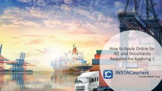 How to Apply Online for IEC and Documents Required for Applying ?