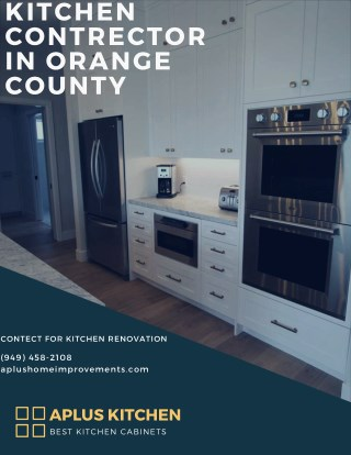 Kitchen contractor in Orange County