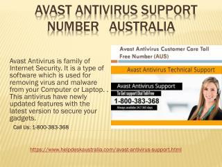 Avast Antivirus Support 1-800-383-368 Number Australia- For Installation Issue