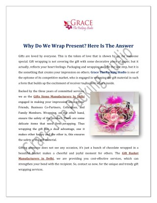 Why Do We Wrap Present? Here Is The Answer