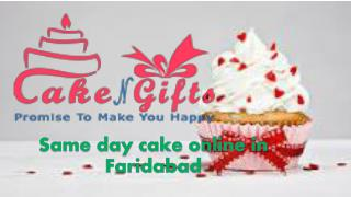 Order your delightful cakes online in Faridabad