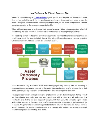 What Are The Importance Of Recycling IT Equipment