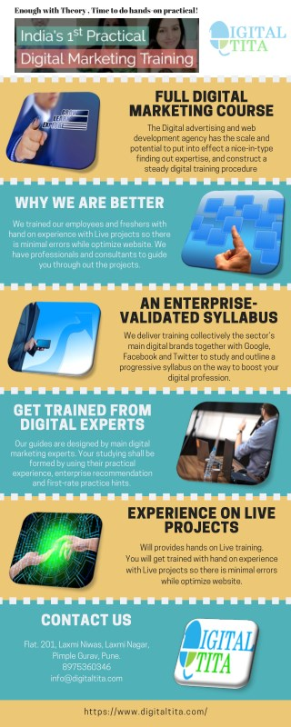 Hands on experience is must for Digital Marketing
