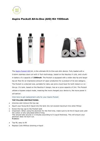 Aspire PockeX All-In-One (AIO) Kit 1500mah