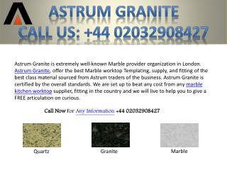 Best Marble Kitchen Worktop in London UK - Astrum Granite