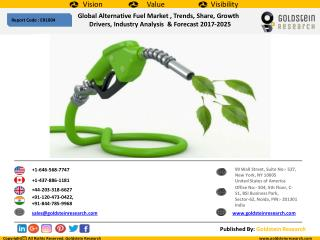 Global Alternative FuelMarket, Trends, Share, Growth  Drivers, Industry Analysis  & Forecast 2017-2025