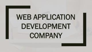 Web Application (App) Development Company