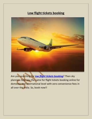 low flight tickets booking