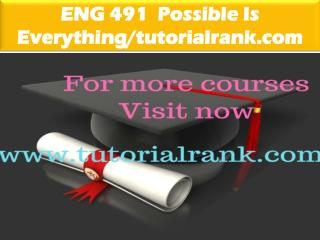 ENG 491  Possible Is Everything--tutorialrank.com