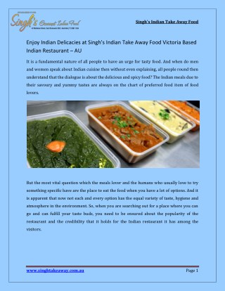 Indian Restaurant Brunswick East | Indian Restaurant Northcote |  Takeaway Indian food Northcote - AU