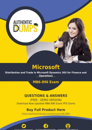 MB6-896 Exam Dumps PDF - Pass MB6-896 Exam with Valid PDF Questions Answers