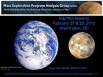 MEPAG Meeting February 27  28, 2012 Washington, DC