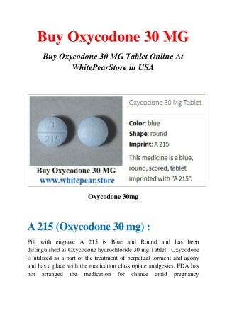 Buy Oxycodone 30 MG