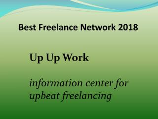 Best Freelance Network 2018