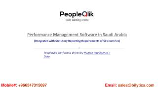 PeopleQlik-#1 HR, Payroll & Performance Management Software in Saudi Arabia
