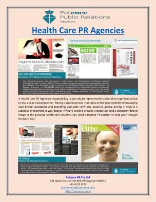 Health Care PR Agencies