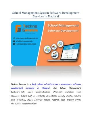 School Management System Software Development Services in Madurai