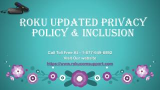 Roku Updated Privacy Policy & Inclusion