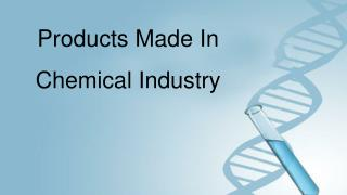 Chemical Manufacturing Companies in India