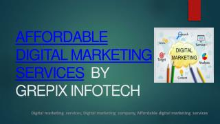Affordable Digital Marketing Services Company