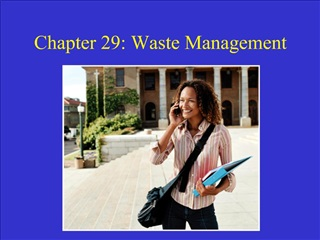 Chapter 29: Waste Management