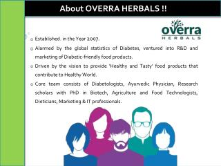 Overra herbals | Low GI Products