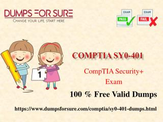 The latest CompTIA SY0-401 exam study guide and free dumps