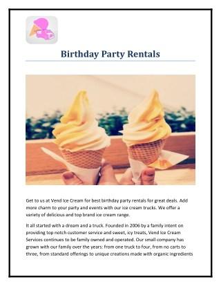 Birthday Party Rentals