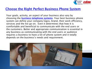 Choose the Right Perfect Business Phone System