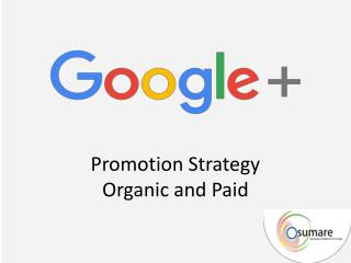 Promotion strategies for Google
