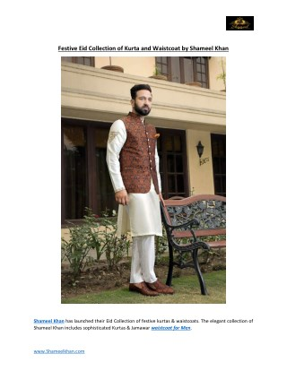 Shameel khan Eid Collection