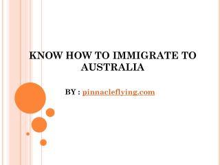 How to migreate to Australia