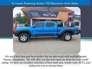 In house financing Austin TX