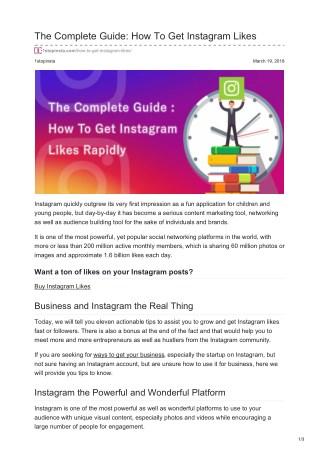The complete guide how to get Instagram likes