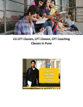 CA CPT Classes ,CPT Classes, CPT Coaching Classes in Pune