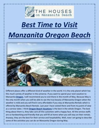 Best Time to Visit Manzanita Oregon Beach