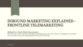 Inbound Marketing Explained - Frontline Telemarketing