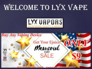 E-juice products | Electronic cigarettes | vaping device | LYX VAPE