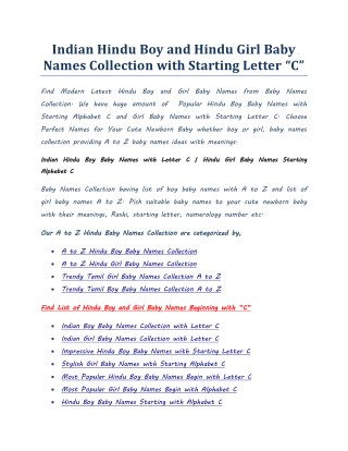 Ppt Most Popular Boy Baby Names Starts With Alphabet A With