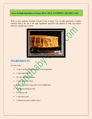 DIY Guide to Make Delicious Caramel Cake