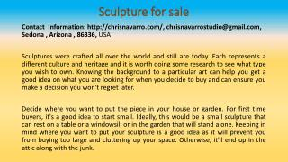 Top Things to Look For When Buying Sculpture For Sale