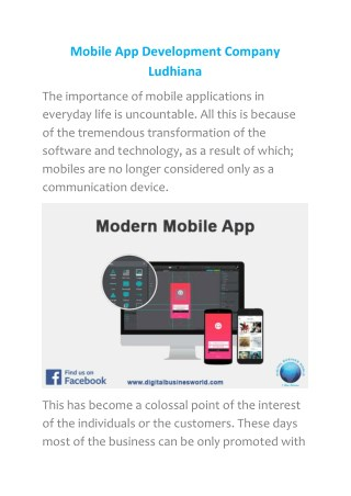 Mobile App Development Company Ludhiana