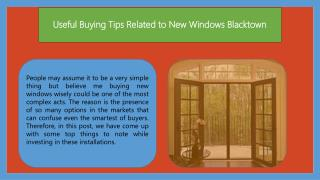 Useful Buying Tips Related to New Windows Blacktown