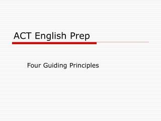 ACT English Prep