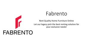 Fabrento | Rent Quality Home Furniture Online