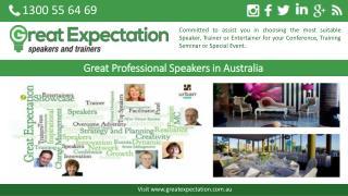 Great Professional Speakers in Australia