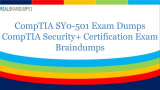 SY0-501 Braindumps With Exam Question Answers - Realbraindumps